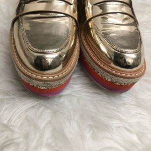254c07a5330 Aldo Shoes - Aldo platform Gold loafers Ibaresen size 6.5